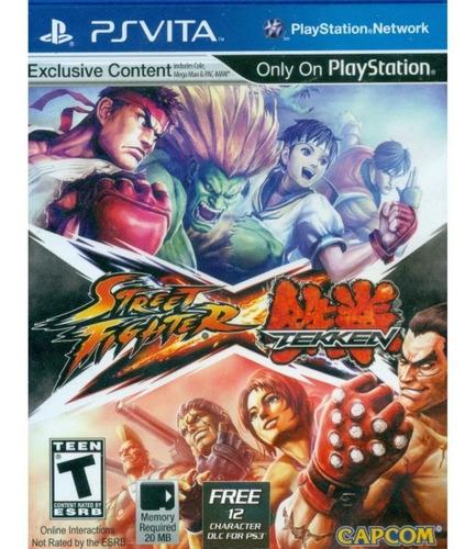 Jogo Street Fighter Vs Tekken Original Novo Psvita