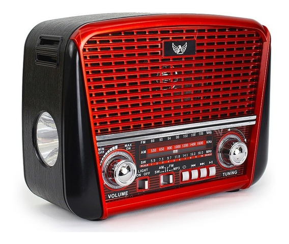 Radio Retro Altomex J107 Tipo Antigo Fm Am Usb Bivolt Pilha