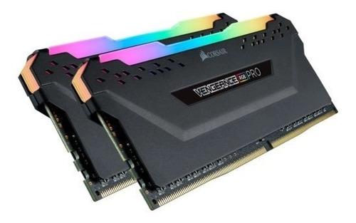 Memória Ram Vengeance Rgb Pro 64gb 2x32gb Cmw64gx4m2e3200c16