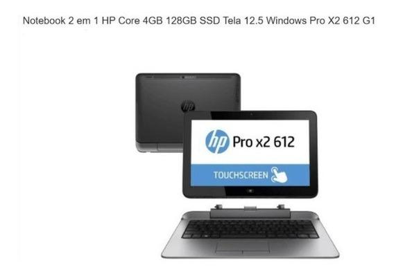 Notebook Hp Pro X2, I3 4gb Ram, Hd 128 Ssd, Tela Touch.