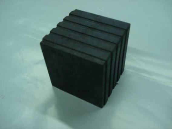 Ponteira 50x50mm Quadrada Externa Borracha - Kit C/8pç