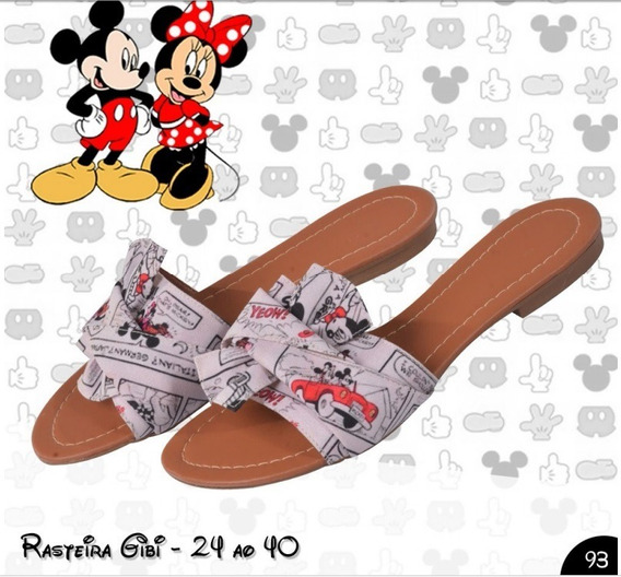 10 Rasteirinhas Minnie Ou Mickey Pronta Entrega