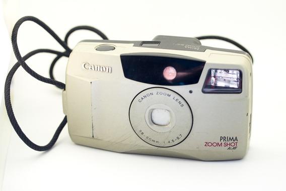 Câmera Canon Analógica Prima Zoom Shot Maquina Fotográfica