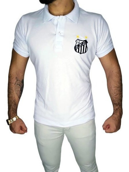 Camisa Polo Santos Retrô