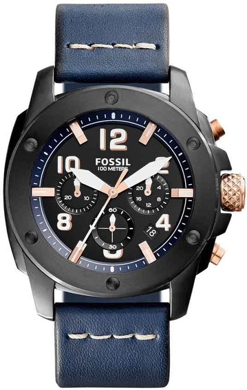 Relógio Fossil Masculino Modern Machine Cronógrafo Fs5066/0a