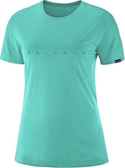 Remera Mujer - Salomon - Logo Ss Tee Ii W - Casual - Algodón