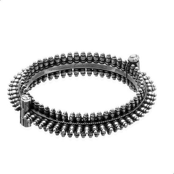 Pulseira Bracelete Indiano Artesanal, Prata 925 - 41901396