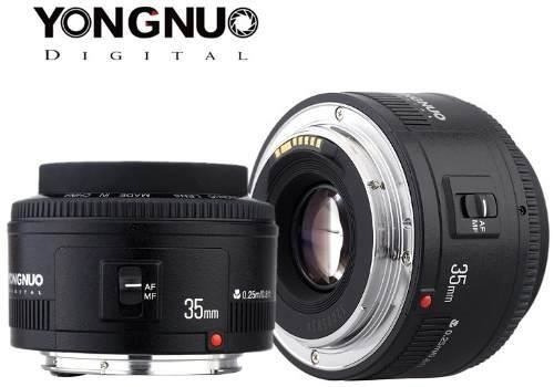 Objetiva 35mm F2.0 Yongnuo Lente Top Para Video Filmes Fotos