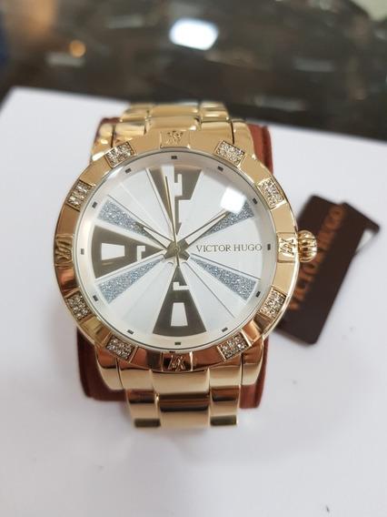 Relógio Feminino Victor Hugo Vh10108lsg/04m