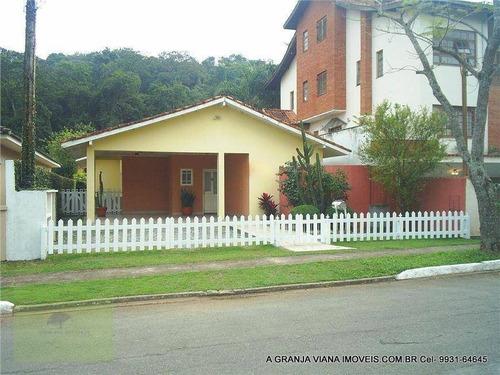 Casa Com 3 Dormitórios À Venda, 170 M² Por R$ 925.000,00 - Granja Viana - Cotia/sp - Ca0366