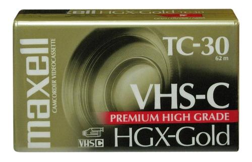 Tc-30 Vhs-c Maxell Video Cassette Vhs Compacto