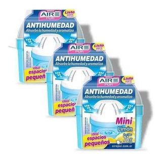 Antihumedad Fragancia Limon Aire Pur Mini Pack 3un