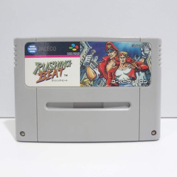 Rushing Beat Original Super Nintendo Sfc / Snes Rival Turf