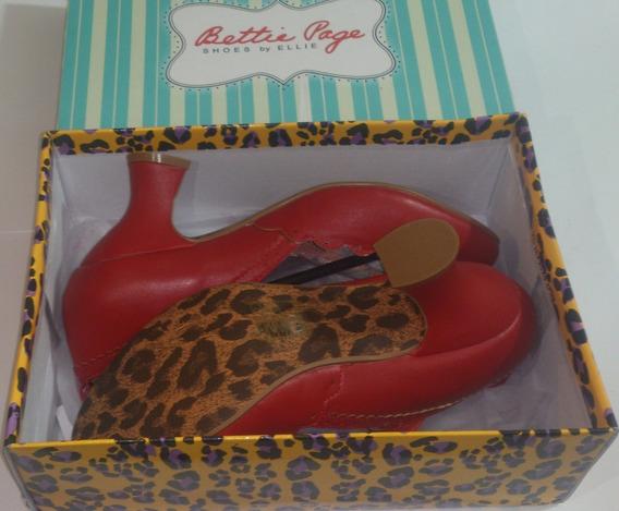 Zapato Elegante De Mujer Bettie Page Color Rojo