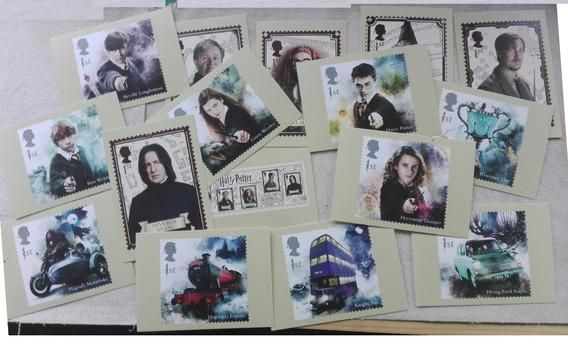 Correo Inglaterra Serie Harry Potter. 16 Postales (2018)