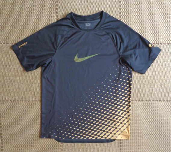 Camisa Original Nike Preta E Dourada