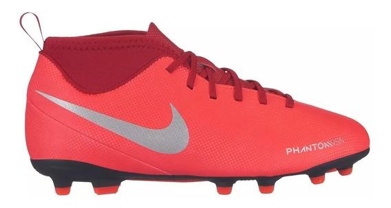 Chuteira Campo Nike Jr Phantom Vision Club Fg