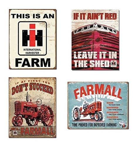Carteles De Granja Paquete Clasico  Ih Farm Farmall  Si No E
