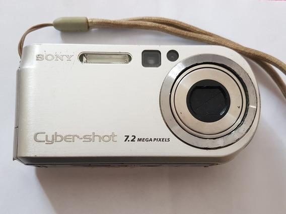 Câmera Digital Sony P200 Relíquia Lente Carzeis 7.2 Megapix