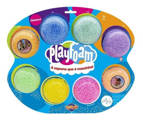 Massinha Espuma Play Foam Cor Sortida Pack 8 Unidades 40083