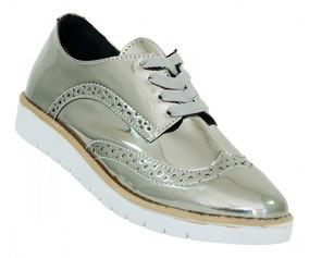Sapato Feminino Metalizado Onix - Moda 2018 Pronta Entrega
