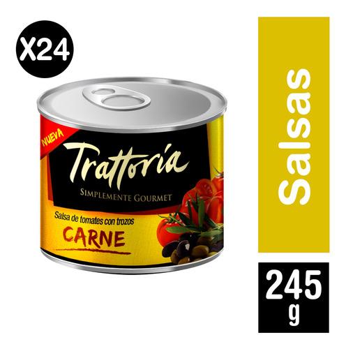 Trattoria Pack 24 Und - Salsa De Tomate Carne 245 Grs
