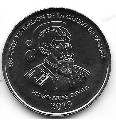 Moneda Panama 1/2 Balboa Año 2019 500 Años Ciudad De Panama