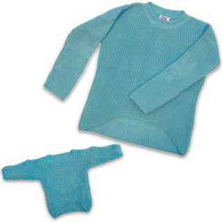 Witty Girls Sweater Abrigo Conjunto Bff Nena Muñeca Ropa