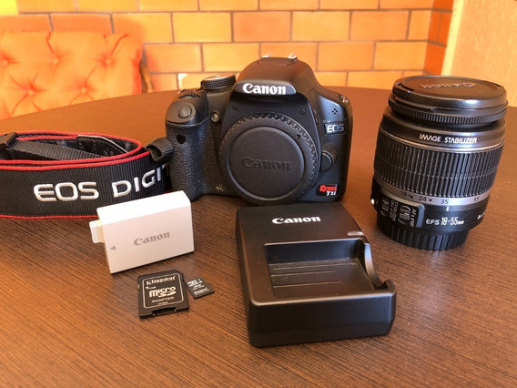 Câmera Canon Eos Rebel T1i + Lente Efs 18-55mm