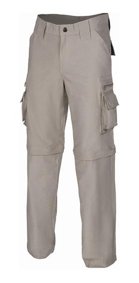 Pantalon Cargo Hombre Trekking Desmontable Secado Rápido