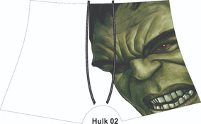 Kit Com 5 Unidades Cueca Infantil Hulk