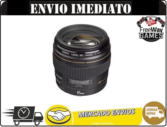 Lente Canon 85mm 1.8 F/1.8 Usm Ef + Nfe