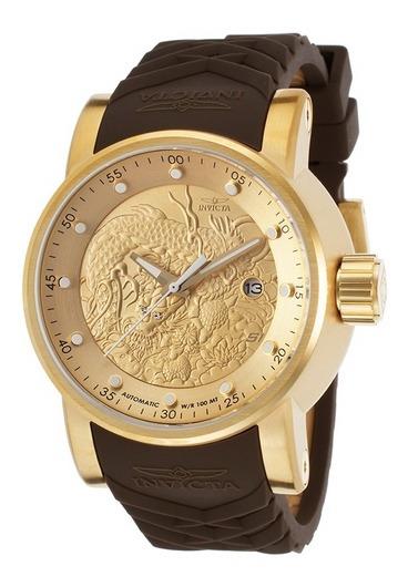 Relógio Invicta Yakuza Automatico 12790 Dourado Masculino