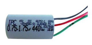 Capacitor Ventilador Teto Latina 0,75 1,75uf Lumen Air Ctrl