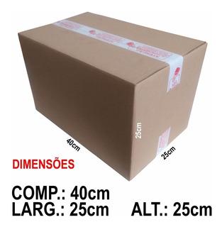 20 Caixas De Papelão 40x25x25 Correios Mercado Envios Me