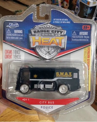 Jada Badge City Heat City Bus Swat Police 1:87 Envio Gratis