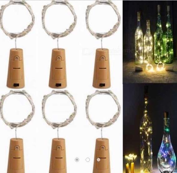 Corcho Led Para Botellas Luz Blanca O Rgb Recicla