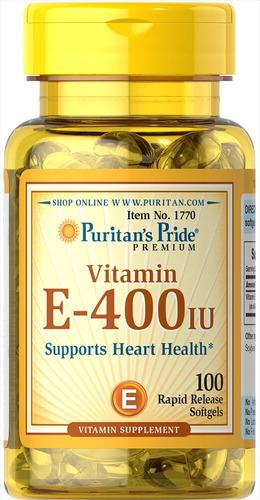 Vitamina E-400 Iu Puritans Pride - Unidad a $289