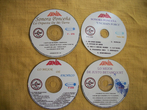 Kits De 4 Cds Copias Originales Etiqueta Fania Música Latina