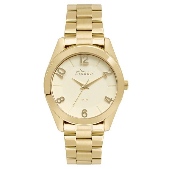 Relógio Condor Feminino Dourado Co2039aj/4d