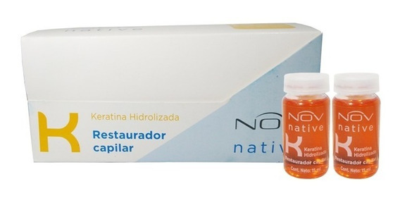 Ampollas Nov Capilar Keratina Hidrolizada Profesional X12