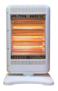 Calefactor Estufa Halogena Giratoria 1200 W Seguridad 3velas