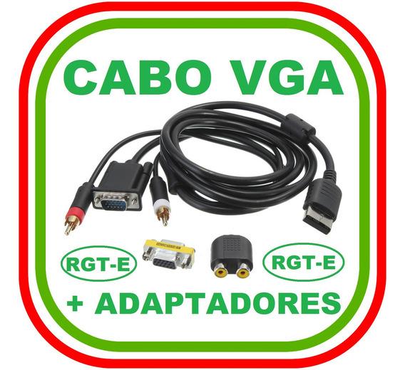 Kit Cabo Vga Dreamcast + Adaptadores - Promoção Imperdível