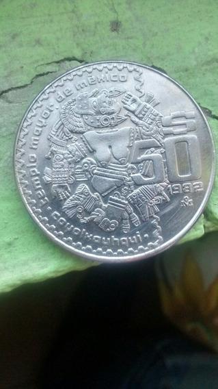 2 Monedas De$50 Pesos Coyolxauhqui Año 1982 Y Año 1983