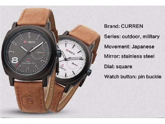 Relógio Curren 8139 Luxo Masculino Esportivo Original