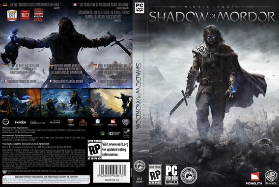 Middle Earth Shadow Of Mordor Pc (midia Física)
