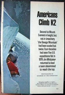 Himalaya K2 Folleto 27 Pags Ingles Fotos Mapas Alta Montaña