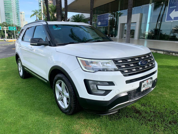 Impecable Ford Explorer 2017 Xlt Piel 6 Cilindros