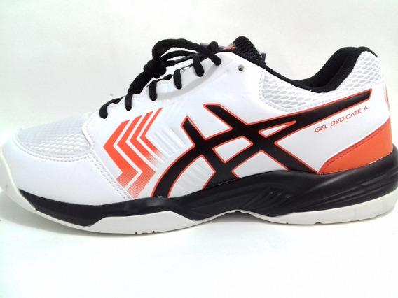 Tenis Asics Gel Dedicate 5a Branco/preto/laranja