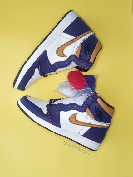 Tênis Nike Jordan 1 Retro High Og Defiant Sb La To Chicago